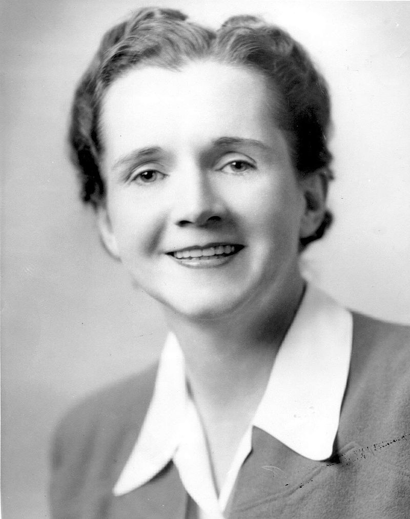 Rachel Carson was a marine biologist & conservationist who started her career at the U.S. Fish and Wildlife Service. She's the author of multiple books, including Silent Spring, which helped inspire the creation of the Environmental Protection Agency!