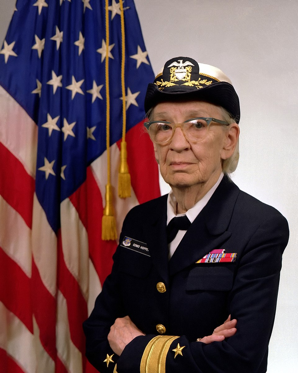 Grace Hopper was a celebrated computer scientist who earned her Ph.D. in mathematics from Yale before becoming a U.S. Navy rear admiral & one of the first programmers of the Harvard Mark I computer.