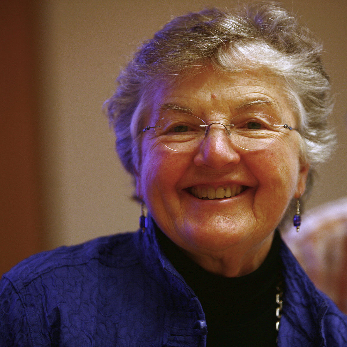 "Fran Allen is a computer scientist who was the 1st female IBM Fellow & the 1st woman to receive the Association for Computing Machinery's Turing Award (aka the ""Nobel Prize of computing""). (photo: Rama, Cc-by-sa-2.0-fr)"