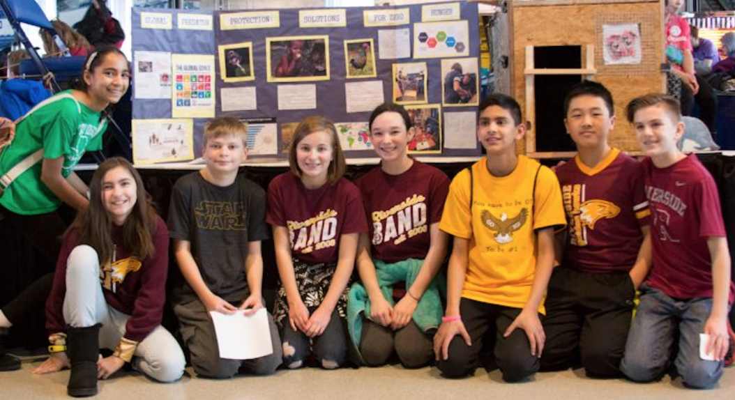 6th graders from Fishers-based Riverside Intermediate School's Engineering Design Team submitted a project entitled Global Predator Protection: Solutions for Zero Hunger, which received the Make It Award.