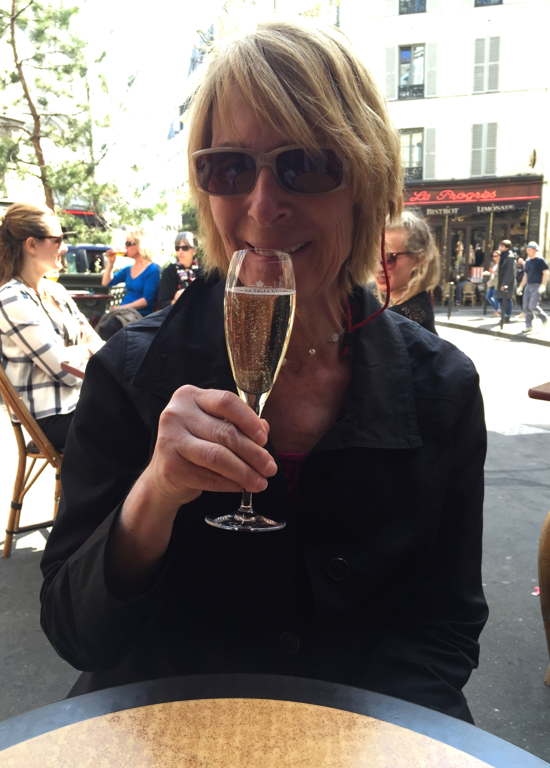 What's better than some champagne in Paris?