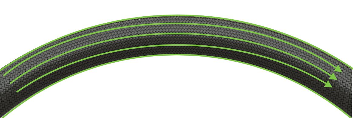 [[La roue FAUCON///The FAUCON wheel]] - [[Fibres 100% continues tout autour de la jante///100% continuous fibers all around the rim]]