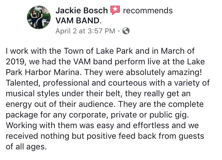 VAM Band Review 1 (Lake Park Jackie).jpg