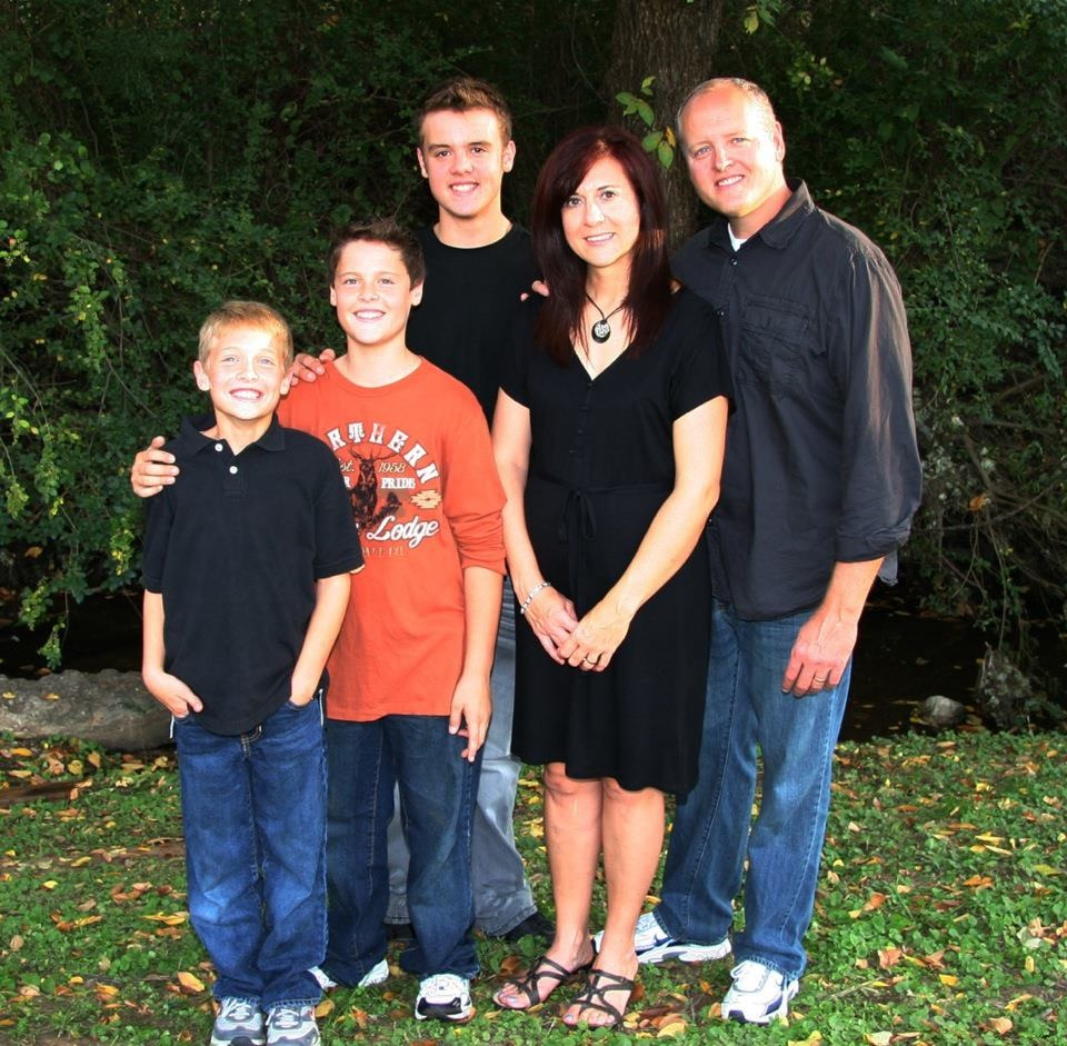 Ronnie & Jennifer, with their 3 boys, Clayton, Kyle, and Samuel