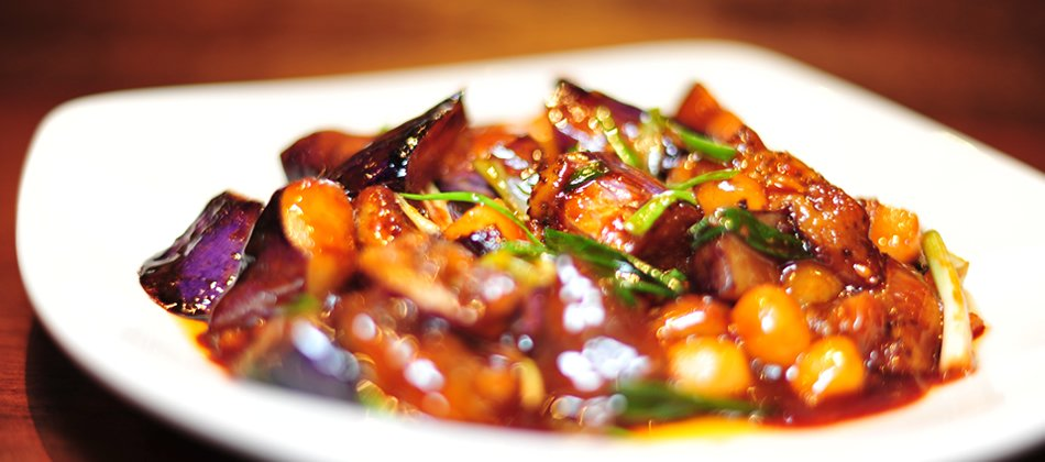 Eggplant in Basil Sauce
