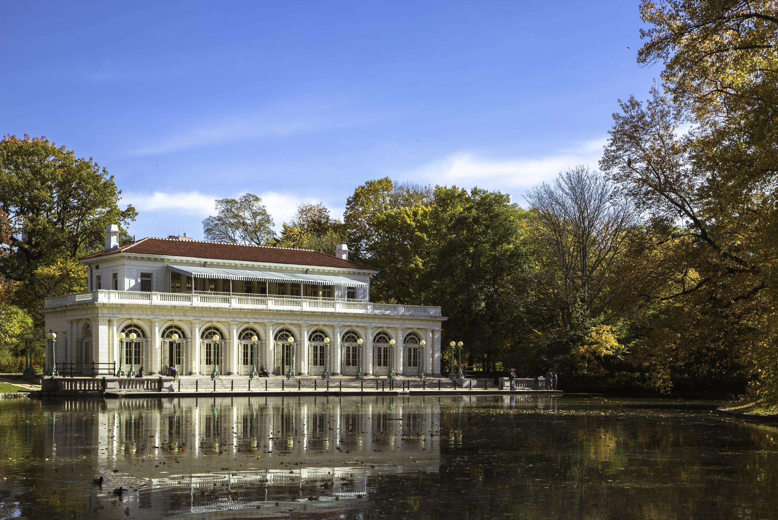 Prospect Park Boathouse in the Fall