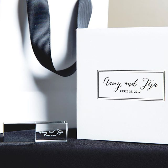 It's all in the details.⠀ .⠀ Crystal, metallic accents, clean design, black and white for a classy wedding videography packaging. Custom calligraphy logo designed for @mangotreeproductions in partnership with @photoflashdrive.⠀ .⠀ Photo by @heliconphoto⠀⠀ #packagingdesign #weddingphotos #photographypackaging #crystalusb  #weddingvideography #weddingusb #weddingusbpackages #weddingphotopackaging #blackandwhite #blacktie #photoflashdrive #heliconpaper