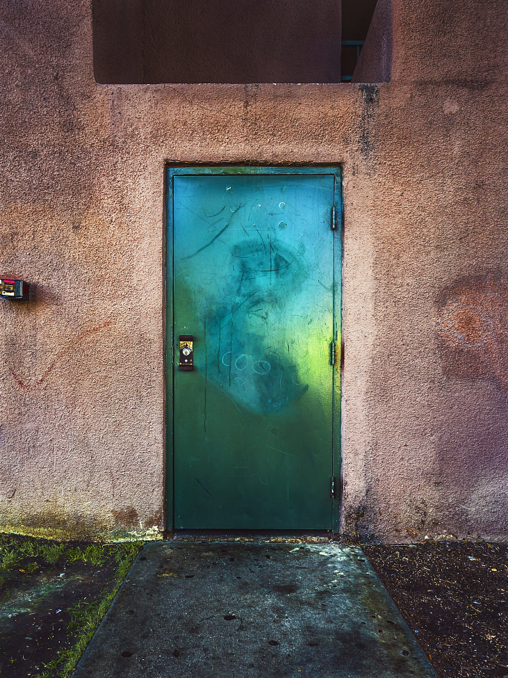 |#40| Celedon Green  As above, so below; what lays behind the grungy, green door, some will never know. As within, so without; always, full of doubt.