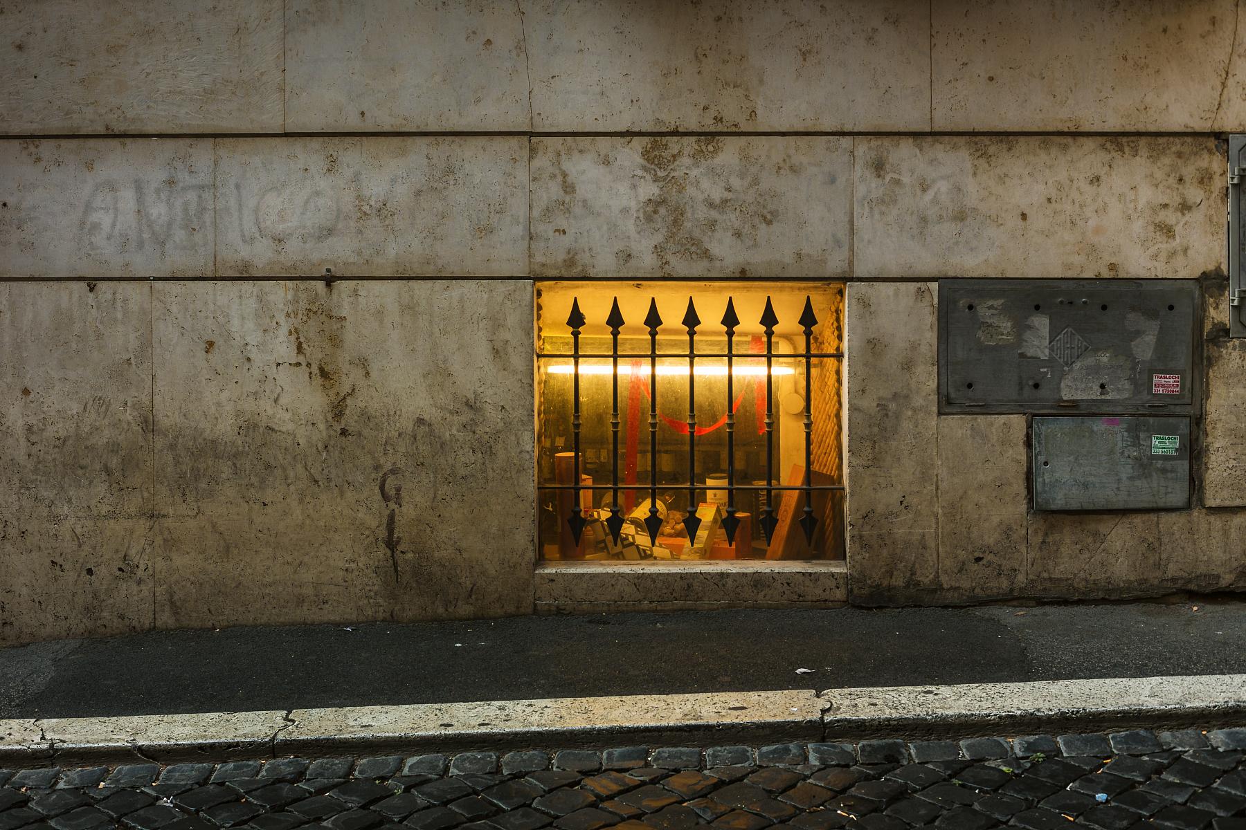 A street in Rome.