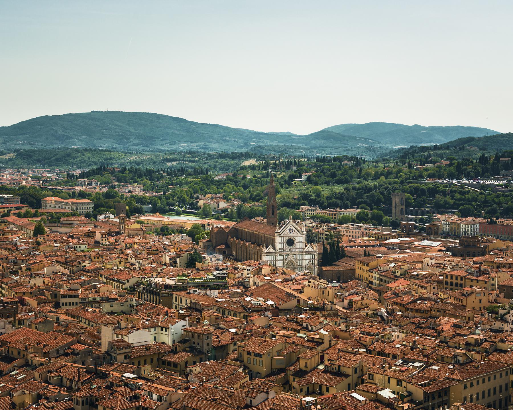 Basilica di Santa Croce  seen from atop  Il Duomo .