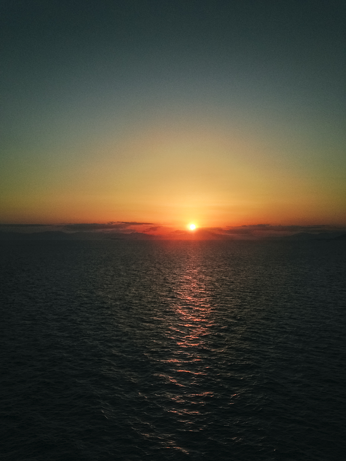 Mediterranean sunsets look better out at sea.