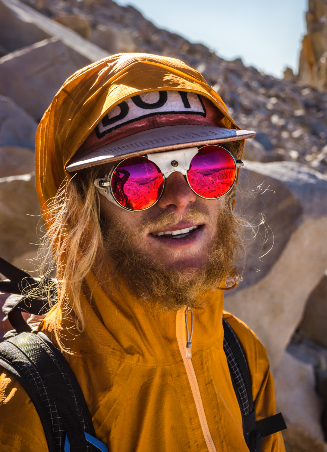 Adam Kernes Mount Whitney glacier glasses portrait