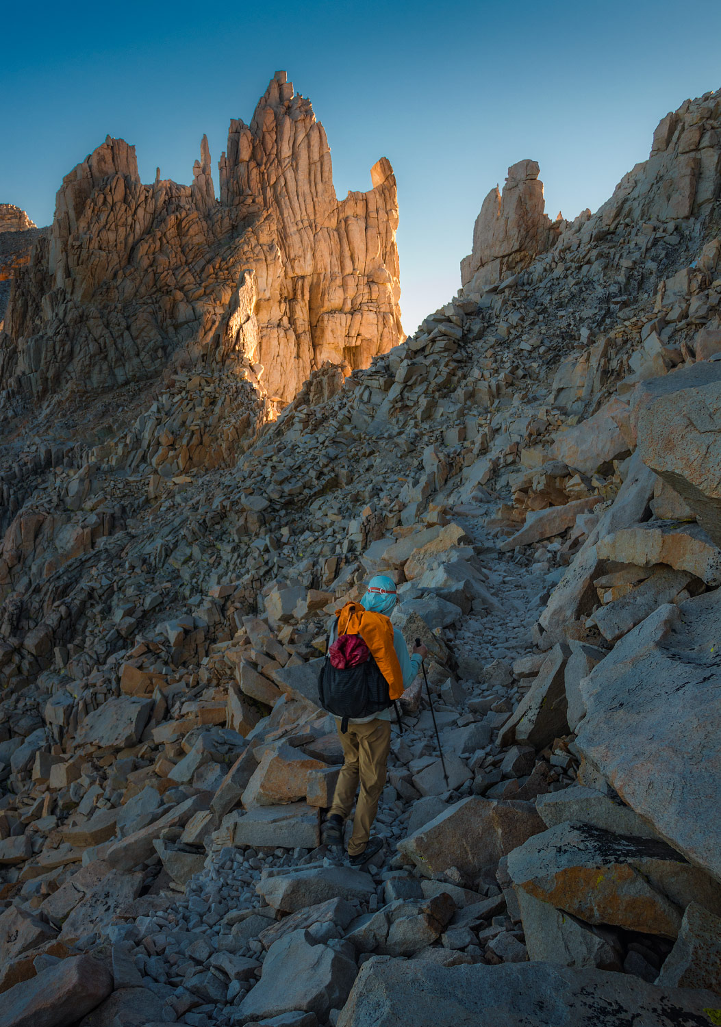 Mount Whitney sunrise summit, Inyo, California, Pacific Crest Trail; 2018.