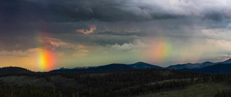 Rainbow over Tooth Ridge, Philmont Scout Ranch, Cimarron, New Mexico; 2017.