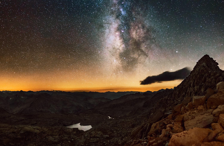 Milky Way over Thunderbolt Pass, Bishop, California; 2016