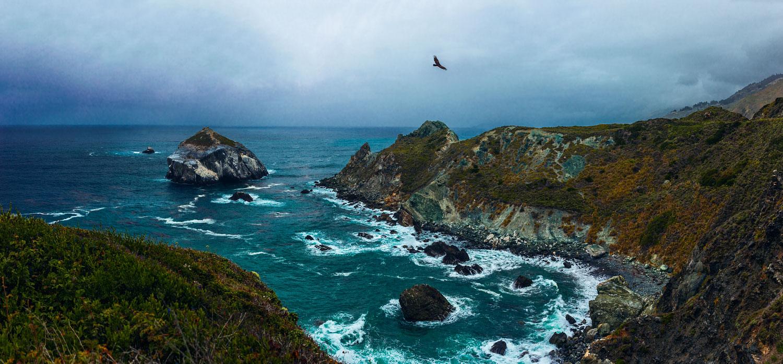 North view of cape San Martin, California.