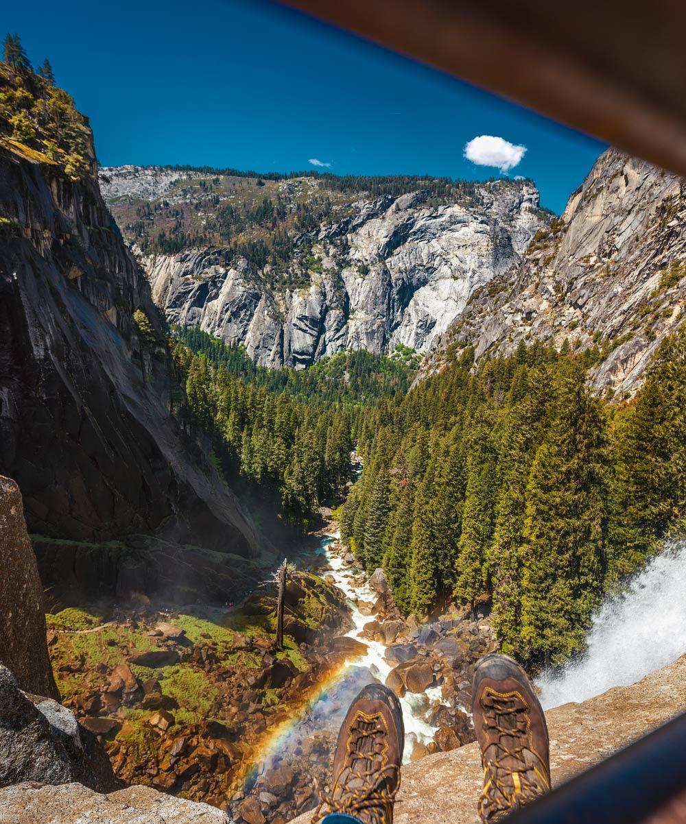Top of Vernal Fall in Yosemite National Park.