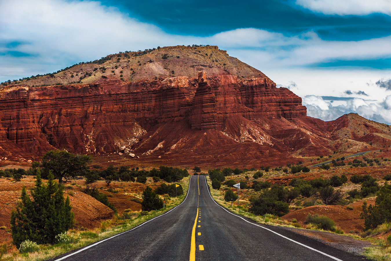Chimney Rock and Mummy Cliff as seen from Utah State Route 24.