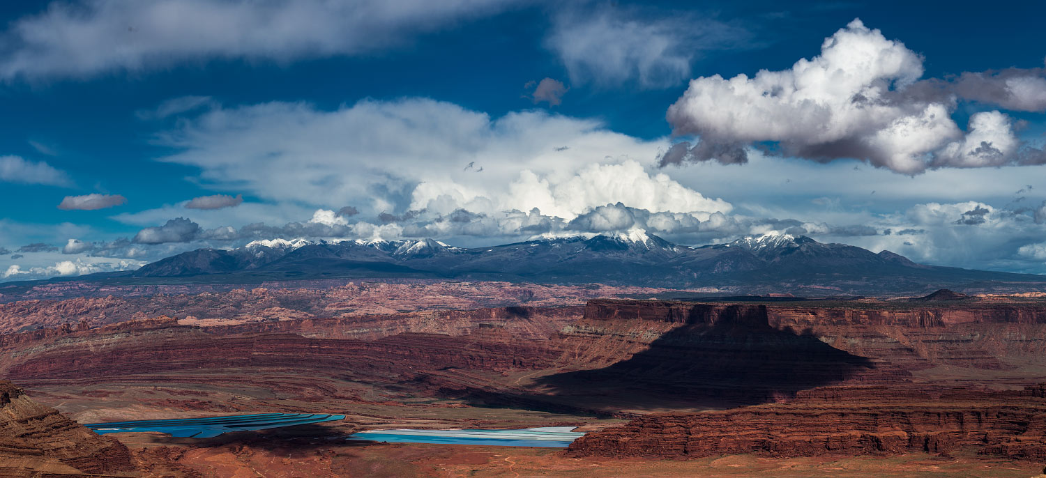 La Sal Mountains  as seen from Dead Horse Point lookout.