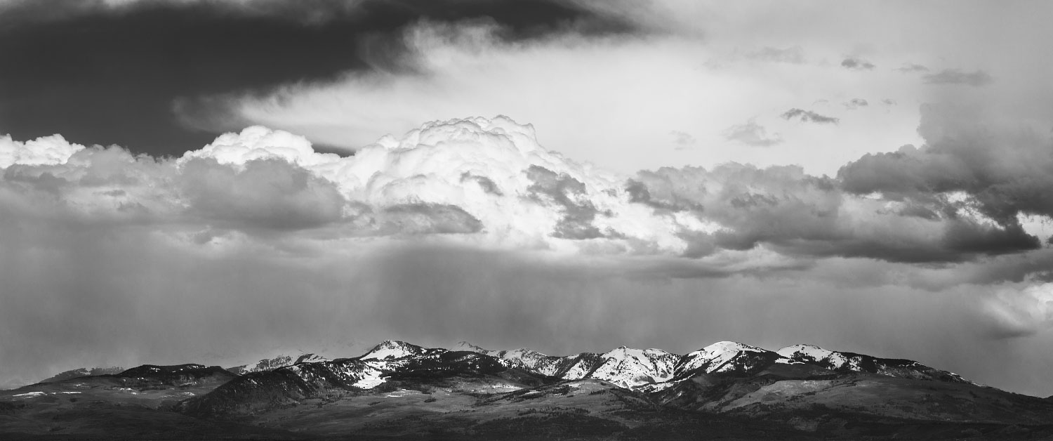 Mountains and clouds somewhere in Durango, Colorado.