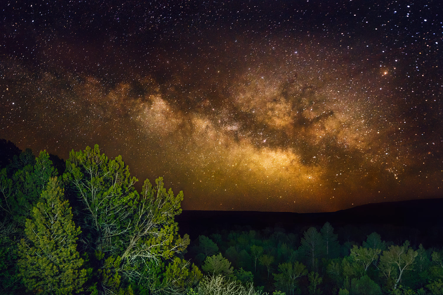 The Milky Way as seen from Zastrow at Philmont