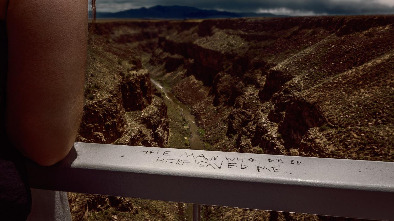 Graffiti on Rio Grande River Gorge Bridge