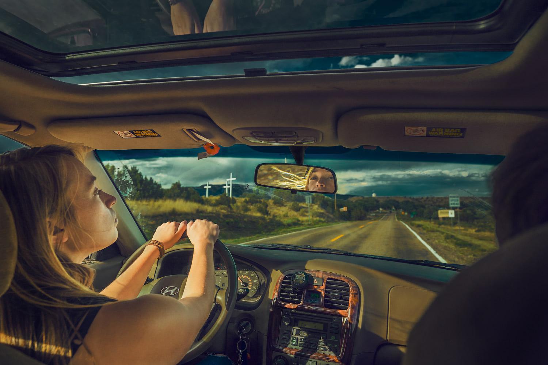 Nicole Butler car ride through Cimarron, New Mexico