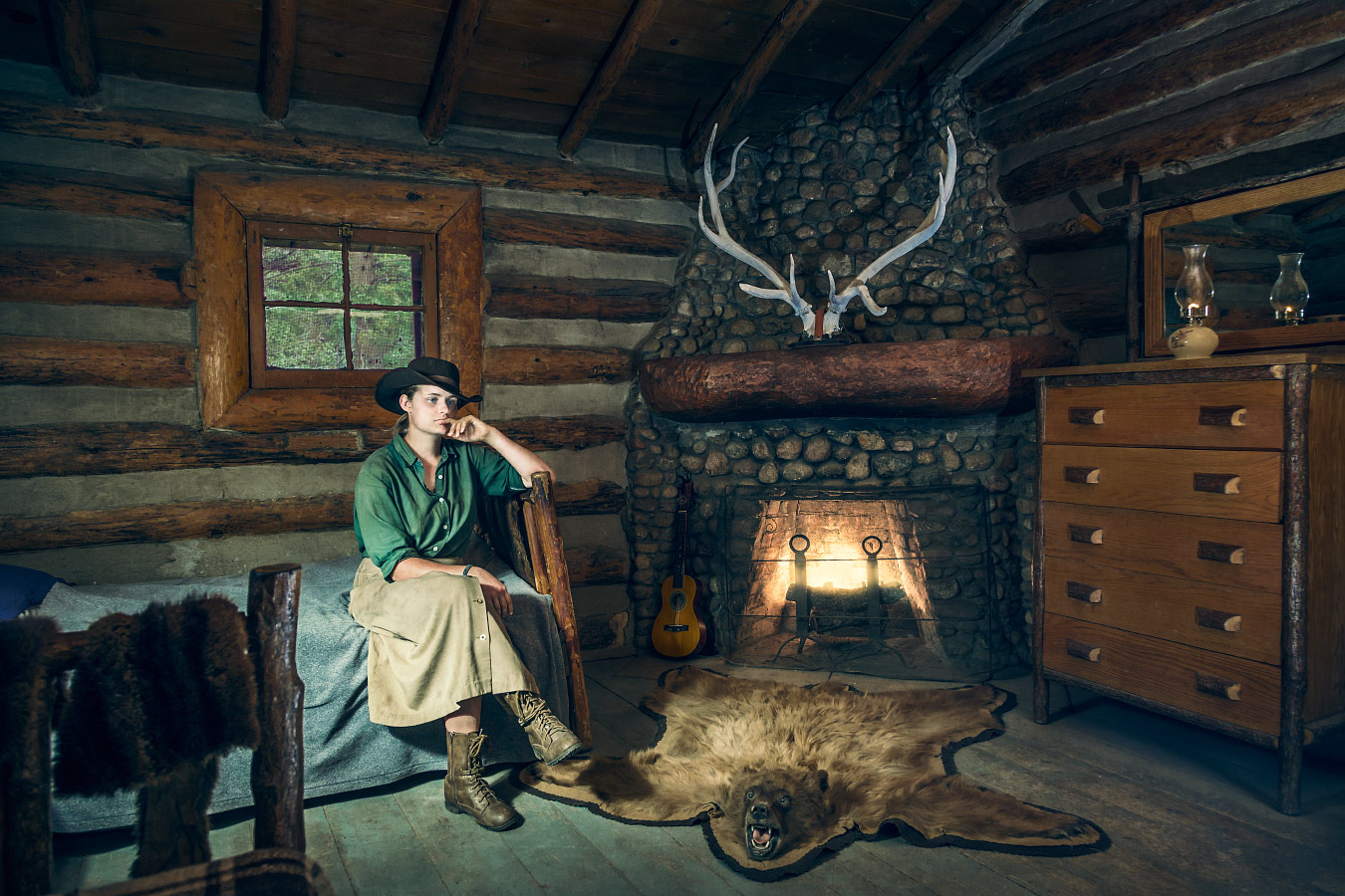 Sarah McMurphy, Homesteader, the Hunting Lodge, Philmont Scout Ranch Cimarron New Mexico