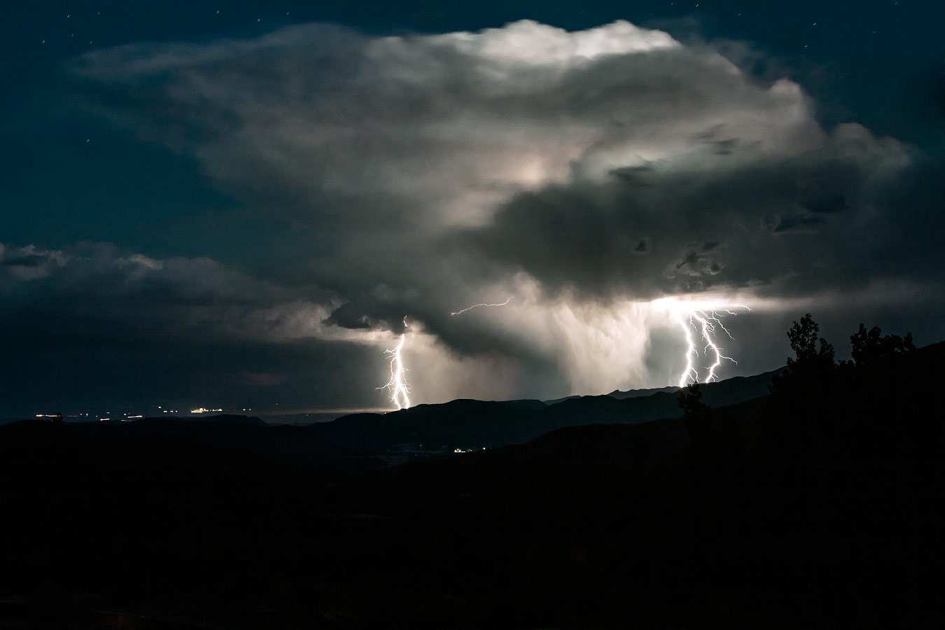 Lightening Storm, Baldy Town, Philmont Scout Ranch Cimarron New Mexico