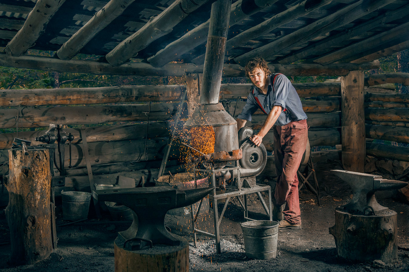 Gage Reigleman Blacksmith Cyphers Mine Philmont Scout Ranch Cimarron New Mexico