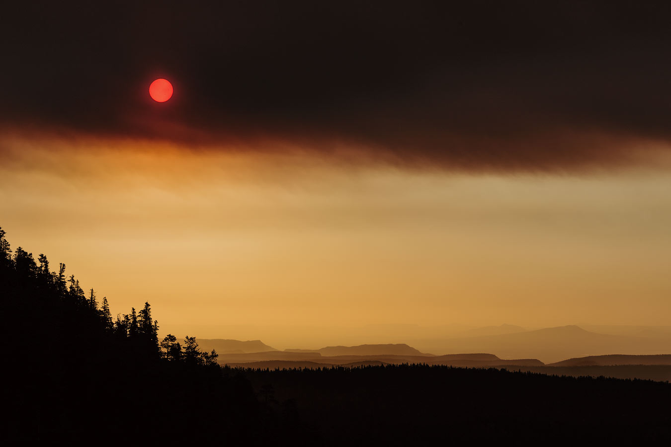 Smoky Sunrise at Sawmill Philmont Scout Ranch Cimarron New Mexico