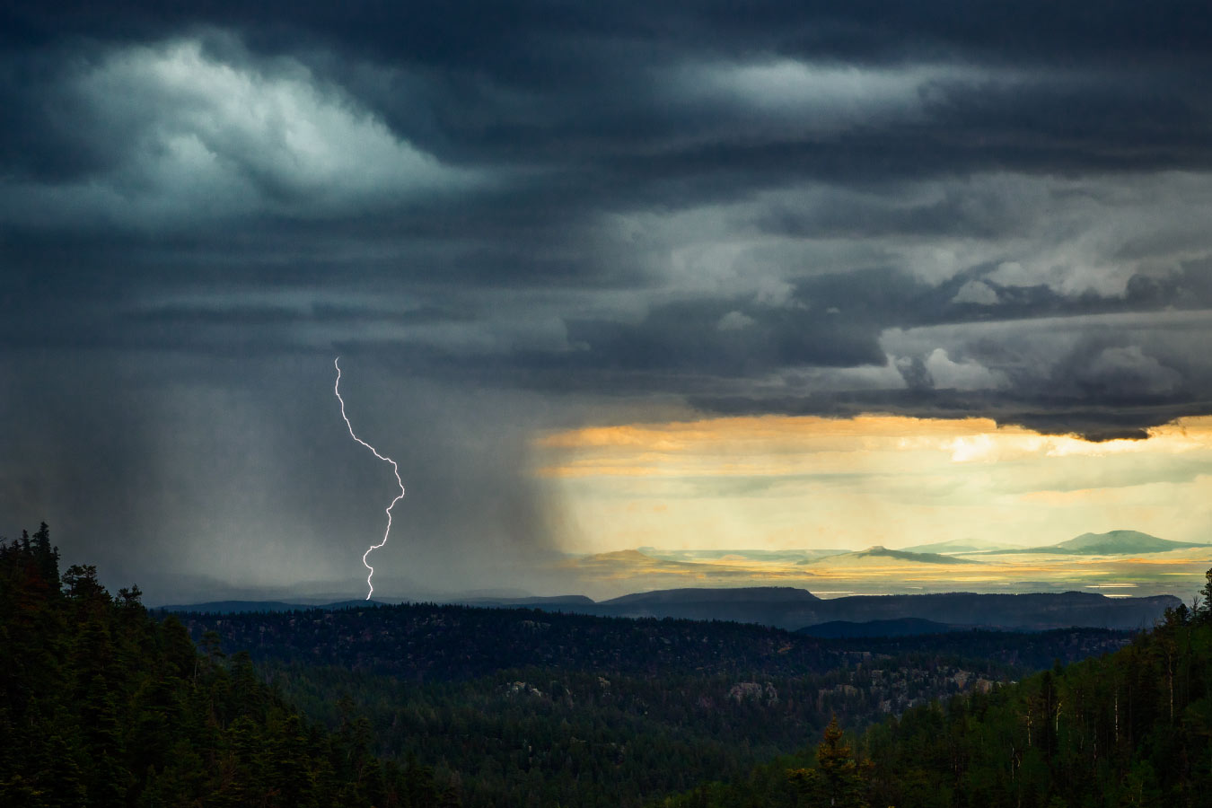 Lightening on the Plains Sawmill Philmont Scout Ranch Cimarron New Mexico