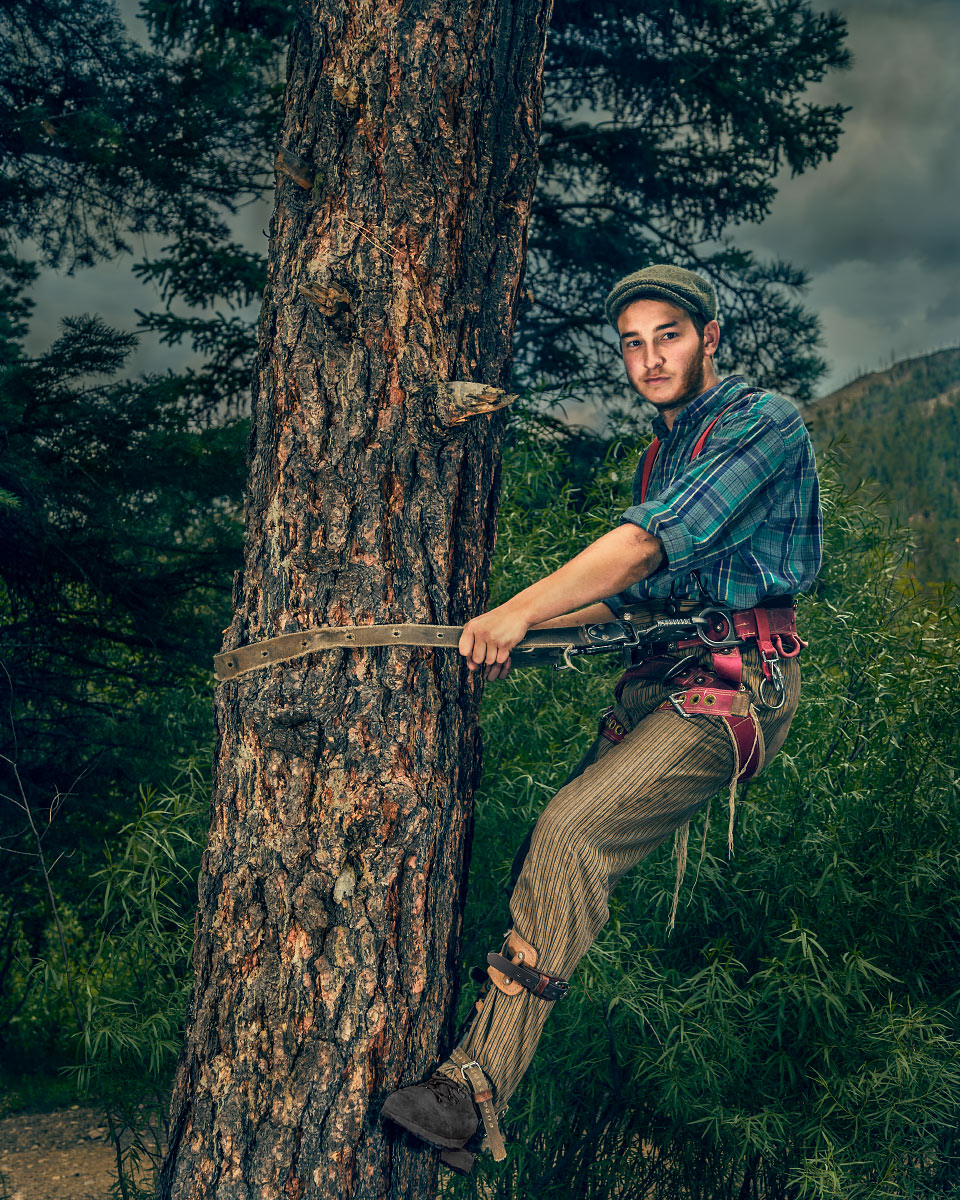 Ted Cook Logger Pueblano Philmont Scout Ranch Cimarron New Mexico