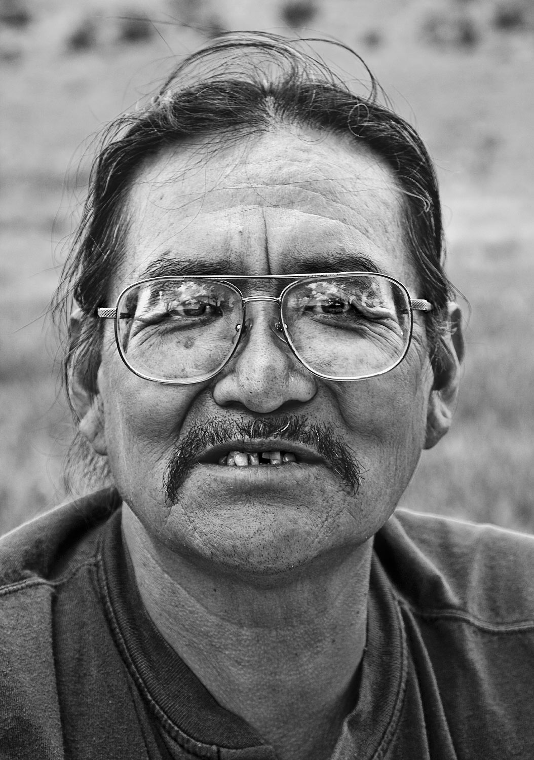 Jicarilla Apache black and white portrait Philmont Scout Ranch