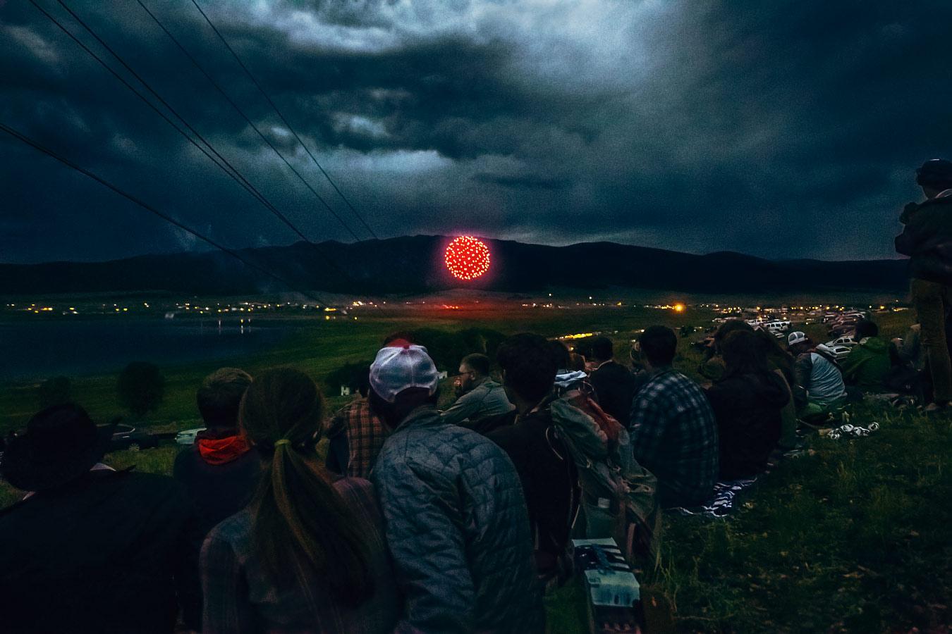 Fourth of July fireworks at the Eagles Nest reservoir