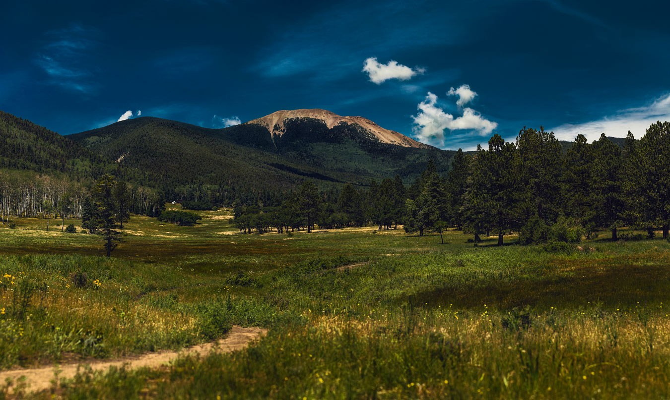 Mt. Baldy from Miranda meadow at Philmont Scout Ranch