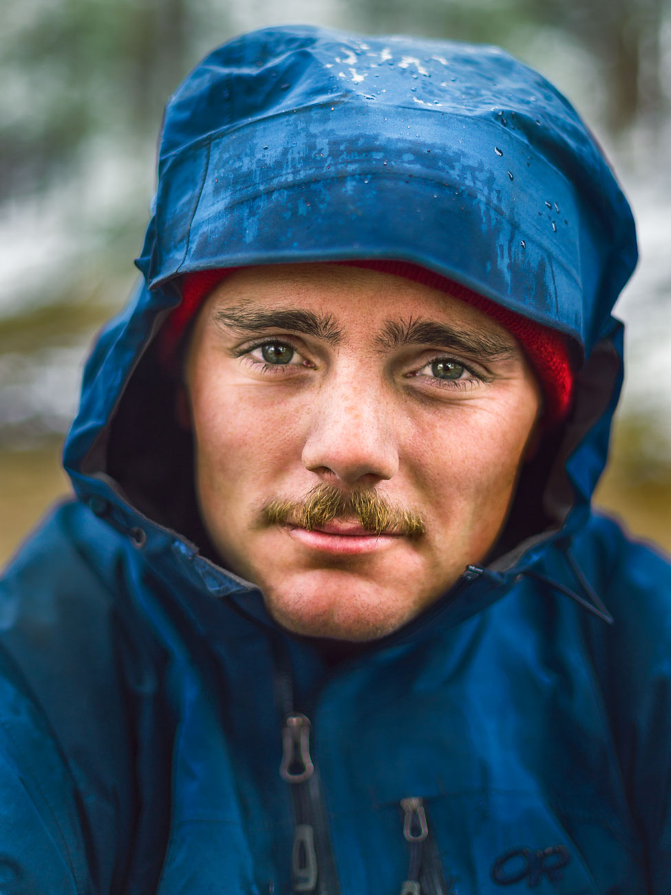 Peter Bergene rainy portrait Philmont Scout Ranch Cimarron New Mexico