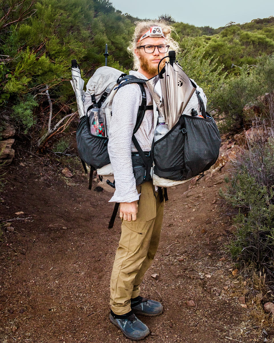 Adam takes my Hyperlite pack.