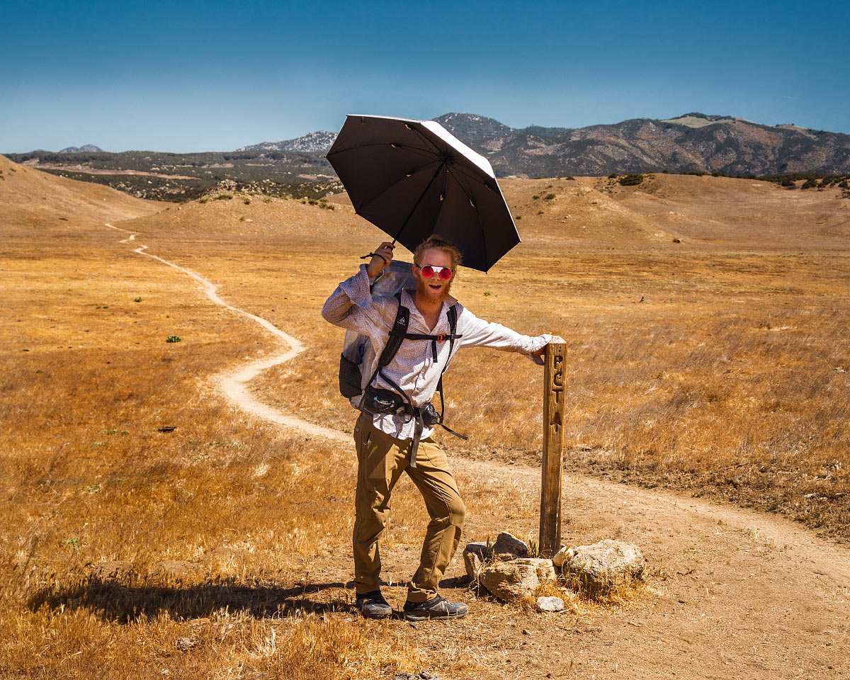 Hiking through Warner Springs Meadows, mile 103.4.