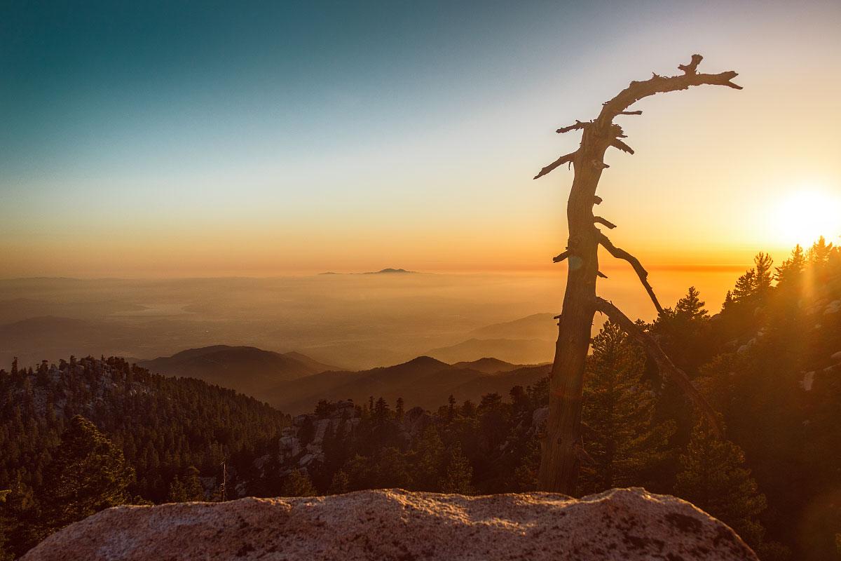Sunset over San Gorgonio mountain.