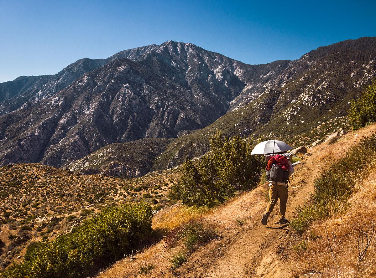 Descent off Mount San Jacinto, mile ~191.