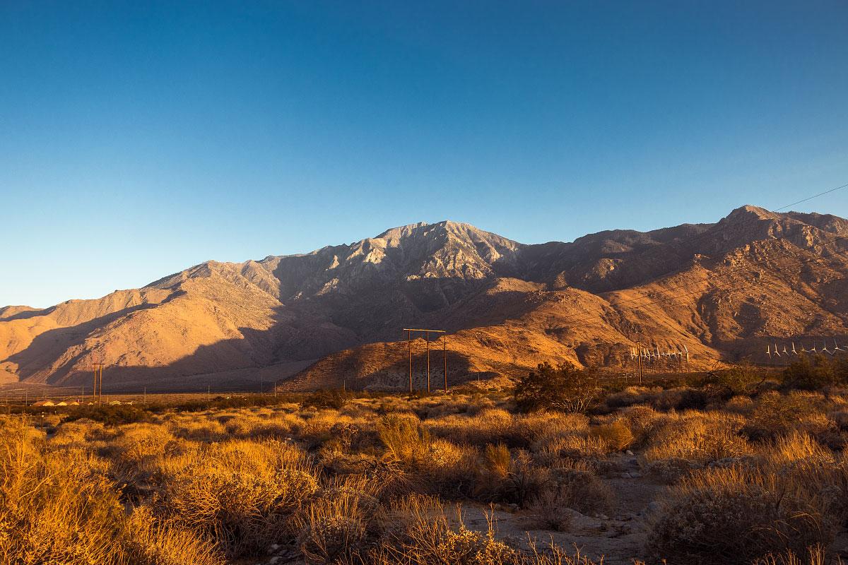 Mount San Jacinto, north of Interstate 10, mile ~211.