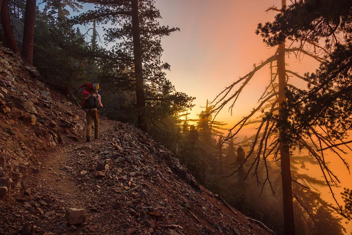 Ascending Mount Baden-Powell, mile ~376.