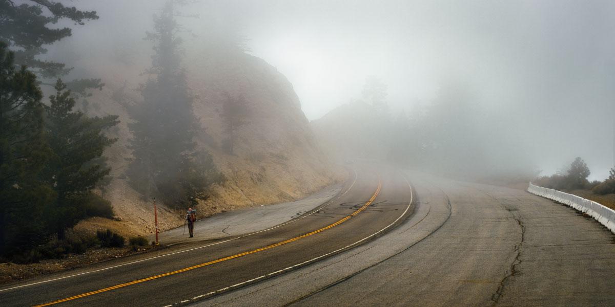 Highway 2, Angeles Crest, mile 389.3.