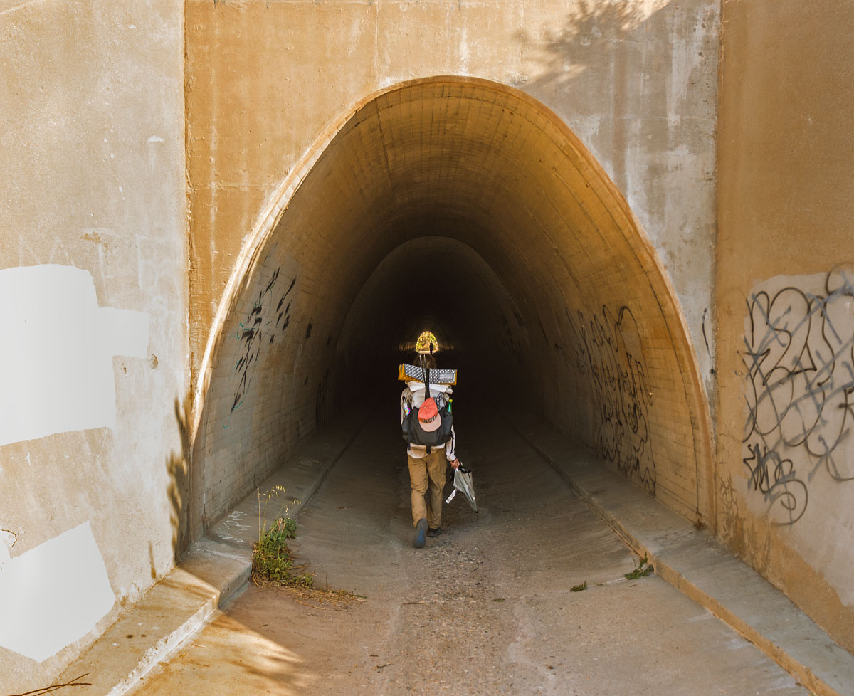 Highway 14 tunnel, mile 451.1.