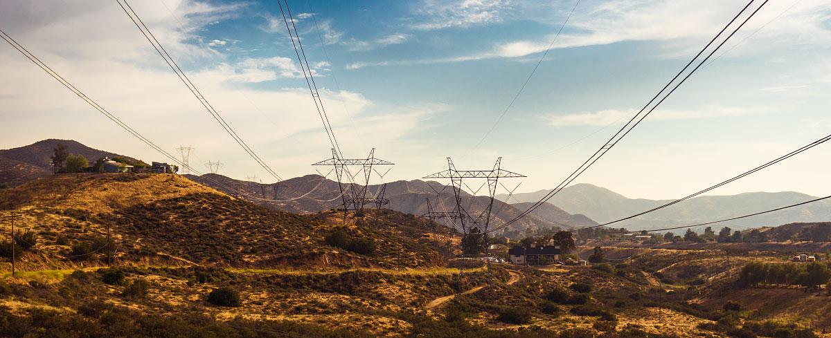 Petersen road power lines, mile 456.6.