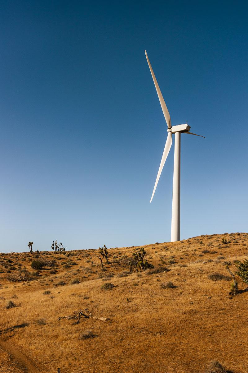 Wind turbine, mile ~539.