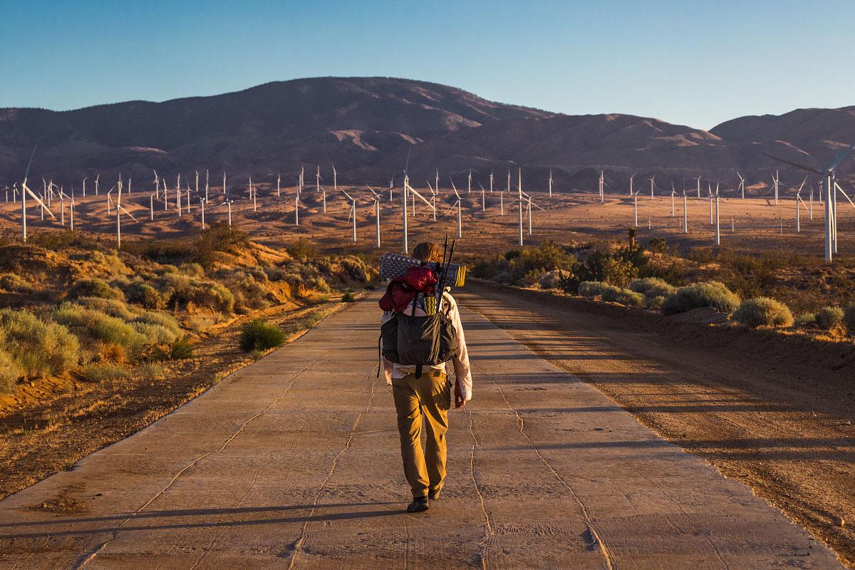 Mazama Wind Farm sunrise, mile ~534.