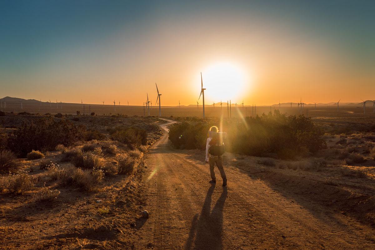 Mazama wind farm sunrise.