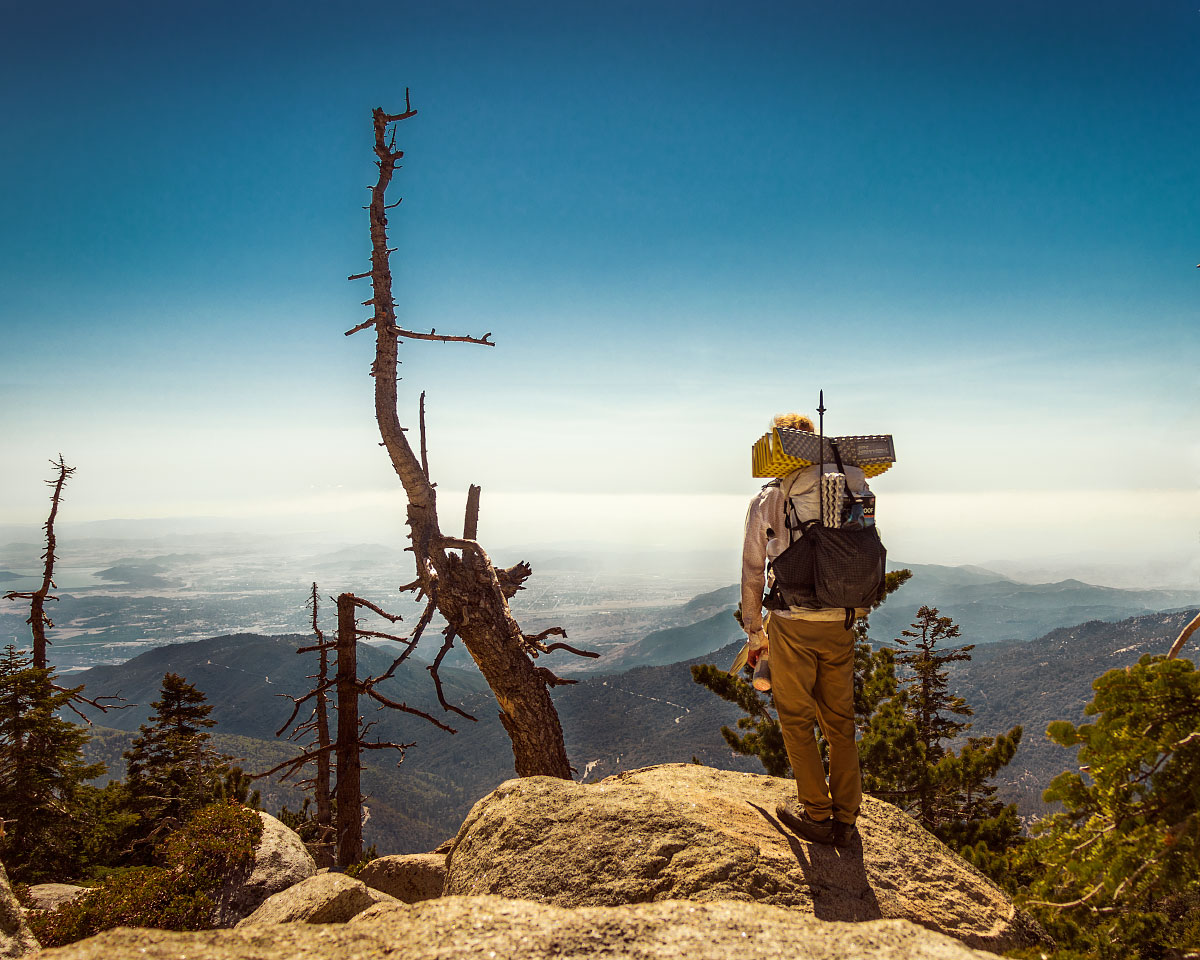 Hiking up Mount San Jacinto Pacific Crest Trail